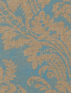 Argentina Damask wallpaper from Thibaut - 839-T-6870 - Metallic Gold on Blue