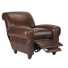 leather chair to accompany the linen couch alternative  Paris Leather Recliner