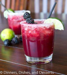 Skinny Blackberry Margarita recipe. Yes please!