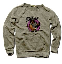 Macho Man Pro Wrestling Officially Licensed Women's MANIAC Sweatshirt S-XL Randy Savage Macho K