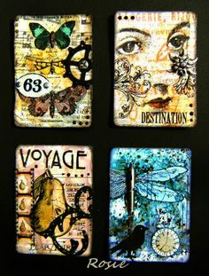 Rosie's Bastelwelt: A Little Touch of Tim - ATCs only