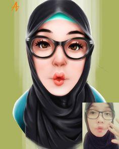 1 done, 1 left.. @ayudyah2333  #digitalpainting #digitalart #art #potrait #girl #hijab #drawing #illustration #featuremecyarine
