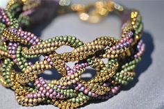 6  braided herringbone ropes Braided Seed Bead Cuff - Bead Magazine - Online Community, forums, blogs, and photo galleries