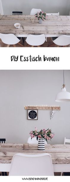 DIY Esstisch selber bauen Build your own dining table – DIY furniture and living. Decor, Diy Dining Table, Diy Table, Living Table, Dining Table, Home Decor, Table Decorations, Wooden Dining Tables, Furniture Makeover