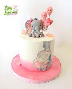 Bety' Sugarland - Cake Design by Elisabete Caseiro Cake Design, Cute Cakes, Baby Elephant, Baby Shower Decorations, Birthday Cake, Ale, Desserts, Ideas, Food