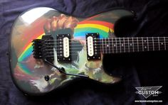 Famous Replica and Relic Painting and Finishing. Guitars in the style of Zakk Wylde, Joe Satriani, Eric Clapton, Jimmy Page, Warren DeMartini and More. Ritchie Blackmore's Rainbow, Joe Satriani, Zakk Wylde, Japan Model, Guitar Art, Custom Guitars, Eric Clapton, Custom Paint, Rock N Roll