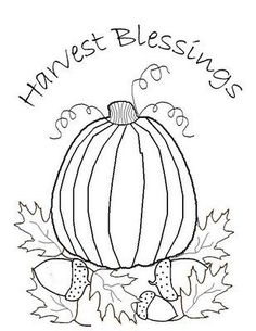 * Freebie * Blessings récolte Stitchery