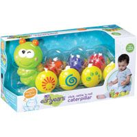 Click, Rattle 'n Roll Caterpillar  Delight #infants with this friendly caterpillar. Its 3 removable rattle balls spin and rattle as #baby pushes it across the floor. Colorful companion for tummy time and crawling. Ages 6+ months.  #Toys #Kids #ToyStore #Toys4kids #Fun4Kids