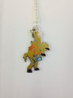 Toy Story Bullseye UpCycled Disney Trading Pin Necklace by BeautifulBaublesSC, $14.00