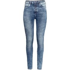 H&M Skinny High Jeans ($23) ❤ liked on Polyvore
