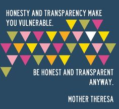 Free Printable from Doe a Deery: Authenticity, honesty and transparency