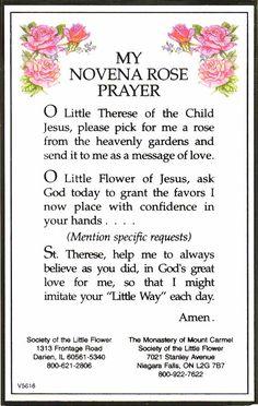saint theresa's prayer | St. Theresa Catholic Church