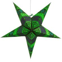 The Holiday Aisle Honeycomb Paper Star Light Color: Bright Green Paper Star Lights, Paper Star Lanterns, Paper Stars, Christmas String Lights, Solar String Lights, Starburst Light, Honeycomb Paper, Star Lamp, Eco Friendly Paper