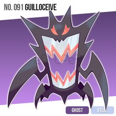 091 Guilloceive by zerudez on DeviantArt Ghost Pokemon, Pokemon Fake, Pokemon Oc, Pokemon Pokedex, Pokemon Memes, Pokemon Fan Art, Pokemon Fusion, Pokemon Regions, Character Art
