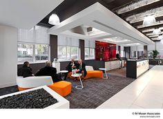 Orange / Black Office Design