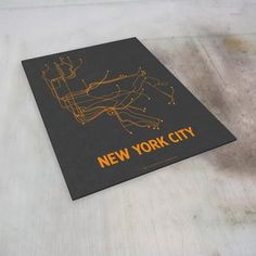 NYC Screenprint Dark Gray, $16, now featured on Fab.