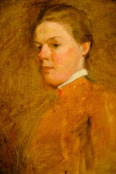 Cecilia Beaux - Self Portrait, 1885 at the National Portrait Gallery Washington DC