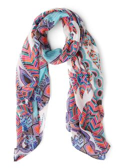 Feathers and Grace Scarf, #ModCloth