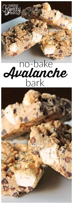 These avalanche bark bars are the best no-bake summer treat. They are so simple and you don't have to heat up your house to make them! Peanut butter, chocolate chips, and crunchy rice cereal .. what's not to love?! via @favfamilyrecipz