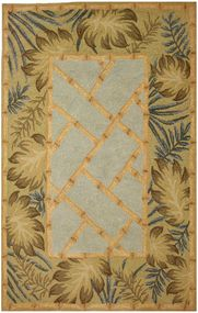 Tropical Palms and Bamboo Area Rug