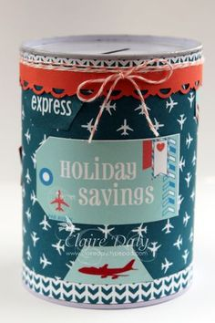 Stampin Up Sent with Love Altered Money Box Claire Daly