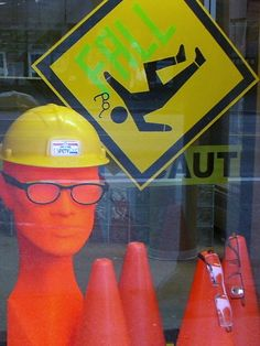 """CAUTION"", pinned by Ton van der Veer"