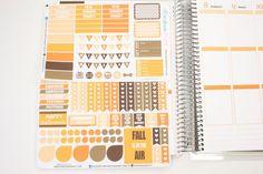 October Planner Kit 150 diecut stickers / Erin by KarolinasKrafts