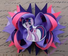 Twighlight Pony Hair Bow LittleSparkle of by CreativeFinishesBows, $10.00