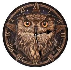 "Owl Clock 11 1-2"""