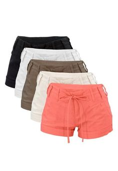 LINEN DRAWSTRING SHORTS : these are so cute! Got em in the back three colors, I have the coral color in the linen pants. Soo comfy