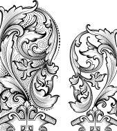 Renaissance Corners hand engraving scrollwork