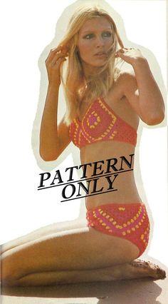 Vintage Crochet Bikini Pattern.