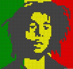 Bob Marley perler bead pattern