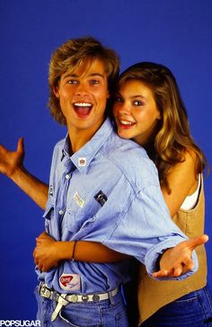 vintage everyday: Hilarious Pictures of Brad Pitt With His Then-Girlfriend Shalane McCall Posing for a Photoshoot in 1987