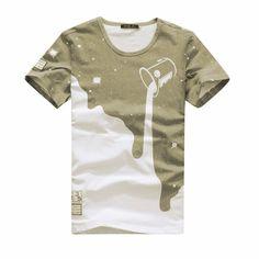 Men's Summer 3D Designer Tees Shirt Short Sleeve Milk Printed Cotton Plus Size Men shirts Homme Y6