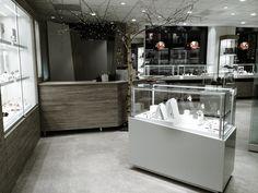 Shop design. Jewelry shop in Bergen Norway Scandinavien design made by Møre Innredning Kitchen Island, Design, Home Decor, Island Kitchen, Decoration Home, Room Decor, Home Interior Design, Home Decoration