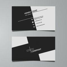 シンプルな黒と白のビジネスカードテンプレート                                                                                                                                                                                 もっと見る