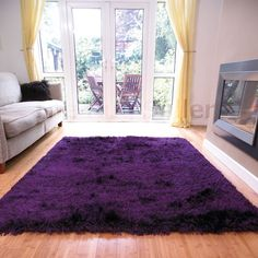 Or a purple fluffy rug...