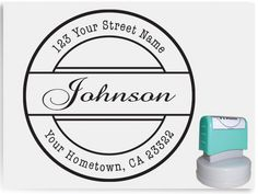 Custom Personalized Pre Inked Return Address Rubber Stamp AA21 on Etsy, $13.90