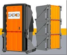 compact porta potty design