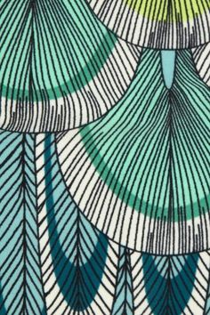 Detail from a Mara Hoffman design. Just like that play on 60s playful, goofy, childlike illustration style and those colours as well.
