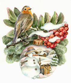 Glanzbilder - Victorian Die Cut - Victorian Scrap - Tube Victorienne - Glansbilleder - Plaatjes : Winter, Advent und Weihnacht