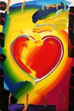 Heart Art - Peter Max