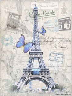 Angelina(TM) iPhone 4 Case / iPhone Case - Hot Seller Magnetic Flip Folio PU Leather Wallet Case Butterfly Retro Paris Eiffel Tower Design with Stand & Credit Card Slots Cover for iPhone 4 Tour Eiffel, Torre Eiffel Paris, Paris Eiffel Tower, Paris Kunst, Paris Art, Vintage Paris, Vintage Pictures, Vintage Images, Thema Paris