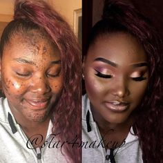 contour makeup – Hair and beauty tips, tricks and tutorials Power Of Makeup, Beauty Makeup, Hair Makeup, Hair Beauty, Contour Makeup, Beauty Stuff, Eye Makeup, Makeup For Black Skin, Makeup Aisle