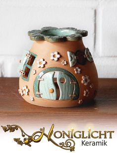 Kleine Duftlampe - Wichtelhaus von Honiglicht auf DaWanda.com