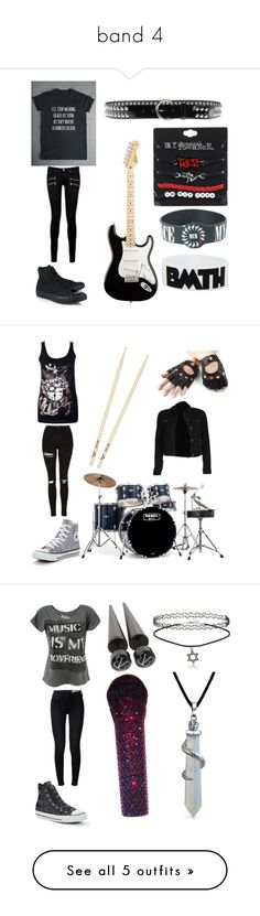 """band 4"" by llamapoop ❤ liked on Polyvore featuring Paige Denim, Converse, Puerco Espin, Aspinal of London, Topshop, Mapex, rag & bone, Bling Jewelry, Bamboo and Nikki Lipstick"