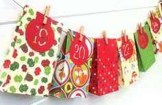 Woodland Forest Animals Advent Calendar. Handmade giftbags, featuring Deer, Fox & Owl, festive Christmas decoration by MyPaperPlanet