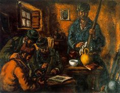 Militiamen in an interior - Arturo Souto (1937)