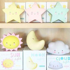 Ins熱い子供発光おもちゃマカロンledランプ創造ムーンスター太陽夜の光のおもちゃギフト子供のためのbedthroom装飾